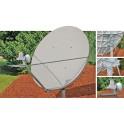 Antenne 1.8m Bande C polarisation Linéaire croisée