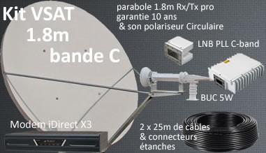 kit vsat 1.8m bande c iDirect