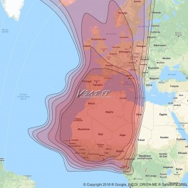 Satellite Eutelsat E21B beam Afrique de l'Ouest connection Internet VSAT Bande Ku