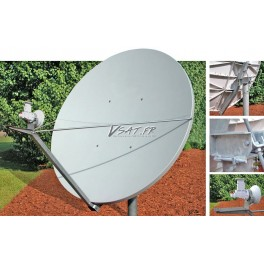 Antenne 2.4m Bande C polarisation Lineaire croisee