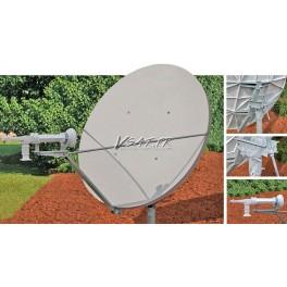 Antenne Rx/Tx 1.8m Bande C polarisation Circulaire