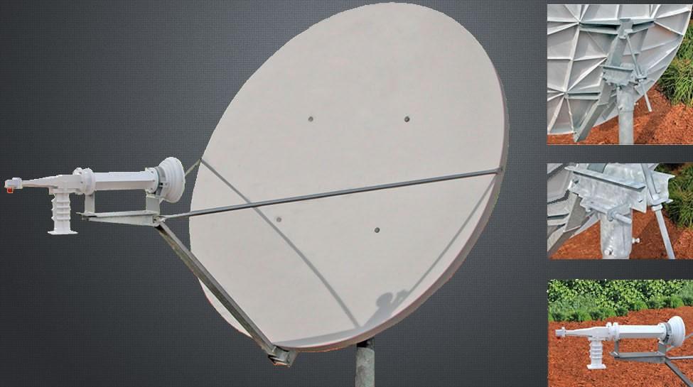Antenne VSAT 1.8m Bande C polarisation Circulaire